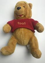 "Disney World  Winnie The Pooh Bear 10""Plush Red Sweater - $22.77"