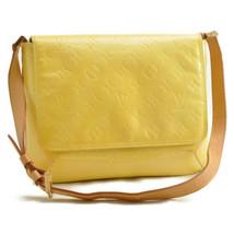 LOUIS VUITTON Vernis Thompson Street Shoulder Bag LimeYellow M91071 Auth... - $180.00