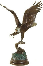 """15""""H Eagle by Jules Moigniez Solid Bronze Collectible Sculpt Statue Whit... - $599.95"""
