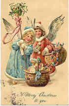 Christmas Angels Paul Finkenrath of Berlin Vintage Post Card - $8.00