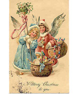 Christmas Angels Paul Finkenrath of Berlin Vintage Post Card - $8.00