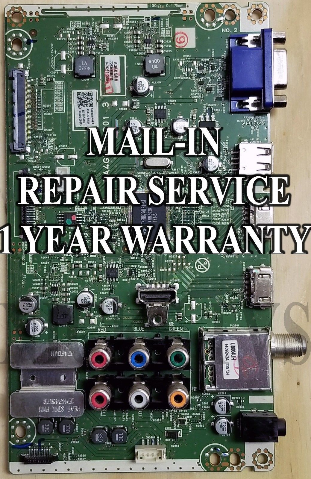Mail-in Repair Service for LG 60PN5000 Main Board 1 YEAR WARRANTY