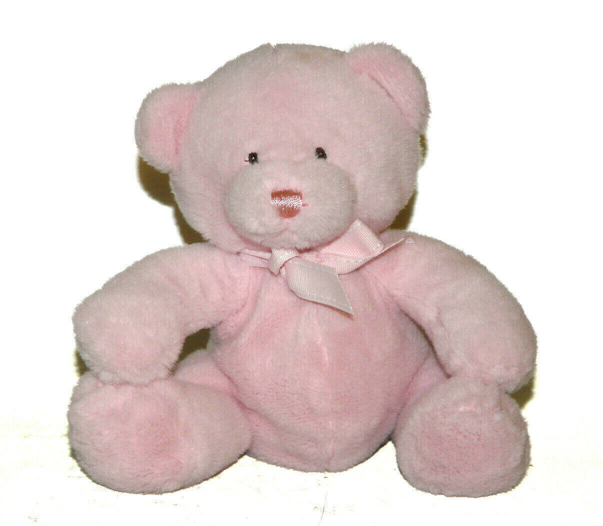 Primary image for Baby Ganz Pink Teddy Bear Rattle Plush Lovey 8 inch BG1780 Stuffed Animal
