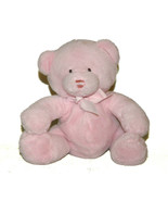 Baby Ganz Pink Teddy Bear Rattle Plush Lovey 8 inch BG1780 Stuffed Animal - $29.58