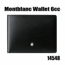 MontBlanc Men's Meisterstuck Black Leather Wallet 6cc #14548 image 1