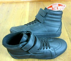 Vans Womens Sk8-Hi Reissue V Mono Leather All Black Skate shoes Size 8 NWT - $69.29