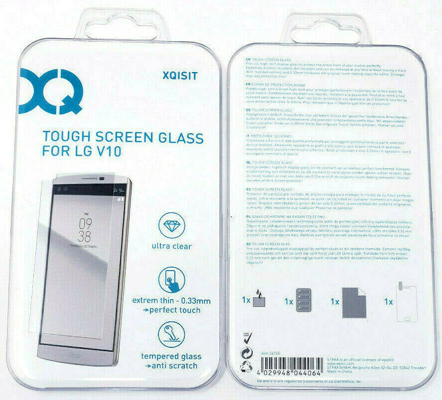 Primary image for XQISIT Tough Tempered Glass Screen Protector For LG V10 Ultra Clear Genuine