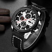 CURREN Chronograph Men Watches Luxury Casual Military Sport Wristwatch Date Quar - $46.88