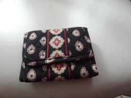 Vera Bradley trifold wallet in Classic Black pattern - $12.50