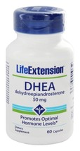 MULTIPACK Life Extension DHEA 50 mg, 60 capsules anti aging NON GMO - $31.00