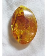 Large amber chunky pendant bead - $30.00