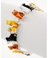 Adorable colorful epoxy cat Magnetic Closure Bracelet perfect for the cat lover - $12.86