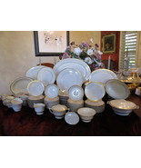 Syracuse Fine China Contessa Cream & Gold 107 Pc Dinnerware Set Service ... - $685.00