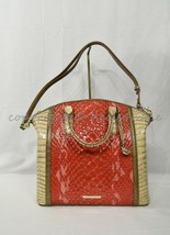NWT Brahmin Large Duxbury Satchel/Shoulder Bag in Candy Apple Carlisle image 2