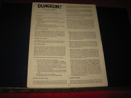 1980 TSR D&D: Dungeon Board Game Piece: Instruction Booklet - $3.00