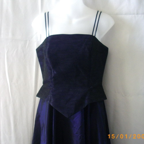 J S Collections purple gown with wrap for wedding, bridesmaid, prom, grad