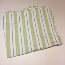 "Pottery Barn Kids Green White Striped Curtain Panel 44"" x 84"" Lined Cotton - $29.02"