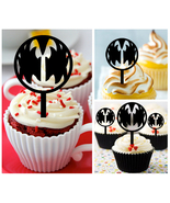 Mu007 Decorations cupcake toppers kiss band Rock and Roll Over Package 1... - $10.00
