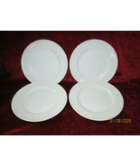 Fitz & Floyd Classic white fluted set of 4 salad plates  excellent - $24.70