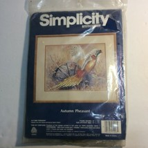 Simplicity Stitchery Needle Craft Crewel Embroidery Kit AUTUMN PHEASANT - $13.98