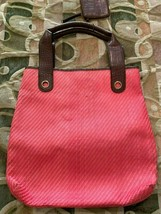 Liz Claiborne Coral Orange Fabric Women's Purse - $9.90