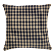 "Black Check Pillow - 16""x16"" - VHC Brands - Country Farmhouse"