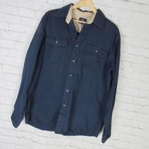 Wrangler Shirt Mens Medium M Navy Western - $27.54