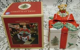 "Spode~Christmas Tree Design Pattern~Bear Covered Box~MIB~6""~Mint~MIB~$40 MSRP - $18.69"