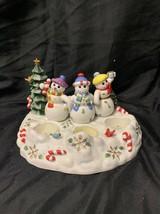 Partylite Snowbell Tealight & Pillar Candle Holder P7650 Snowman Retired... - $14.84