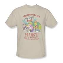 Townsvilles Most Wanted T-shirt powerpuff cartoon graphic 100% cotton tan tee image 2