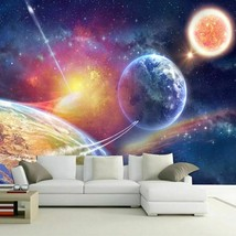 Custom Any Size Murals Wallpaper 3D Universe Starry Sky Photo Home Decor... - $14.29