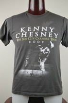 Kenny Chesney The Sun City Carnival Tour 2009 Mens M Gray Graphic T Shirt - $21.20