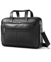 Samsonite Leather Checkpoint Friendly Laptop Briefcase , MSRP $230 - $98.99