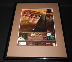 Indiana Jones Emperor's Tomb 2002 Framed 11x14 ORIGINAL Advertisement PS2 - $34.64