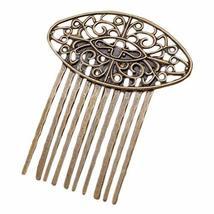 3 Pcs Retro Bronze 10 Teeth Side Comb Hair Clip Comb Flower Vine Cirrus Metal Ha