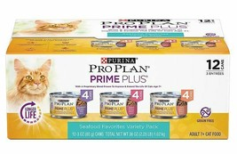 3 Cases Purina Pro Plan Prime Plus Adult 7+ Seafood Variety Pack Canned ... - $45.00