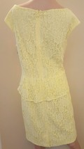 American Living By Ralph Lauren Yellow Sleeveless Lace Cocktail Dress Size 10 image 2