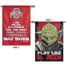 "WinCraft NCAA Ohio State University 15821215 2 Sided Vertical Flag, 28"" x 40"" - $10.87"