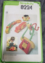 Vtg Simplicity 8224 Pattern Transfer Plush Telephone Clock Monkey Train ... - $8.58