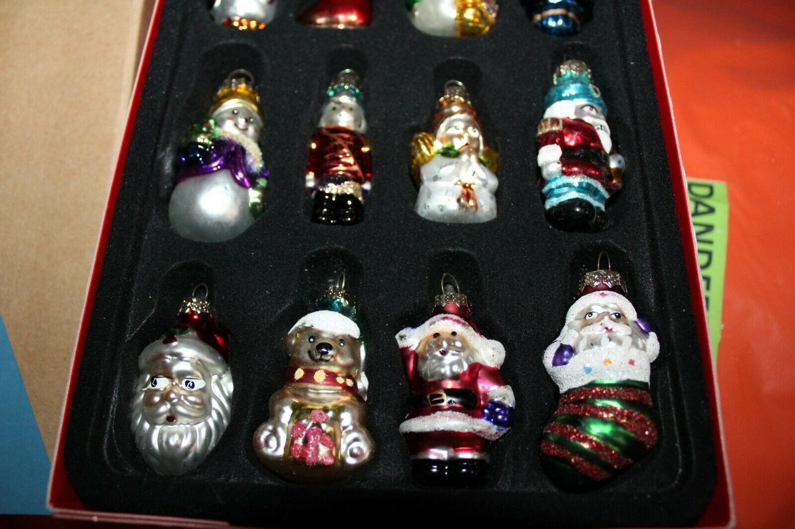 Avon Set Of 12 Glass Christmas Holiday Tree Ornaments image 3