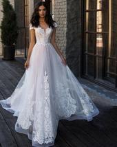 Elegant Sweetheart Off Shoulder Elegant Lace Appliques Wedding  Dress image 4