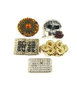 Lot of 5 Fashion Genuine Stone Brass Metal Retro Southwest Pirate Rope B... - $37.62