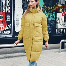 New Women's Casual Hooded Long Soft Quilted Down Zip Up Coat Outwear image 12
