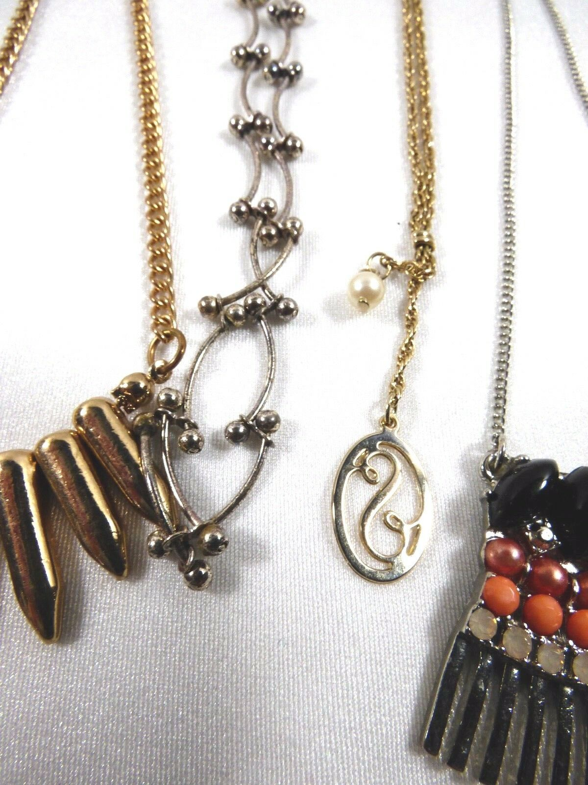 Lot of 9 multi style Fashion link chains charm Pendant Necklaces