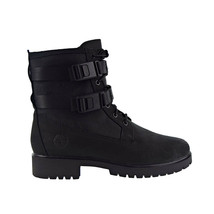Timberland Jayne Wp Double Buckle Women's Boot Black Nubuck TB0A24Q5 - $162.00