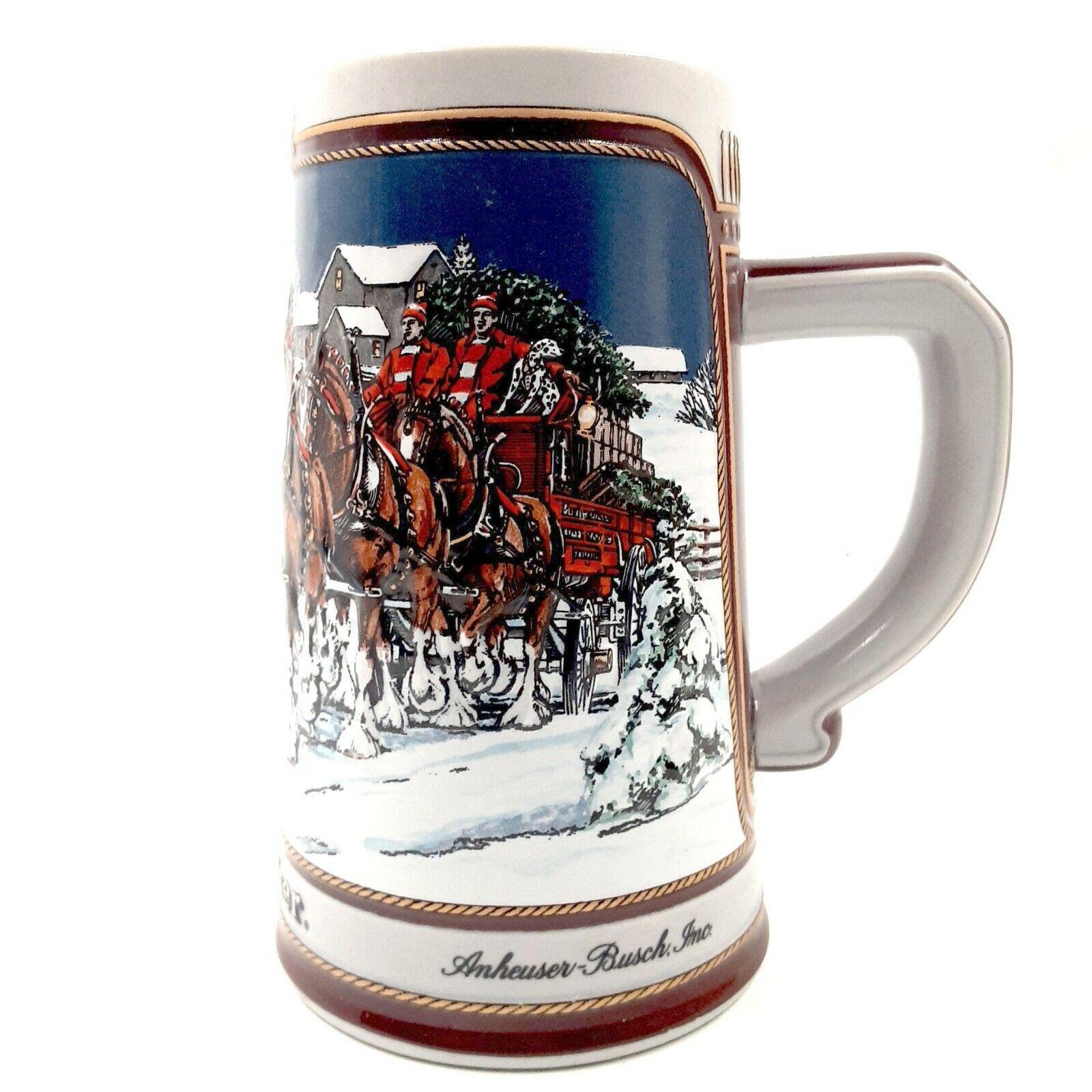 Vintage 1989 Anheuser-Busch Budweiser Clydesdales Collector's Series Beer Stein - $14.99