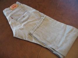 Men's Washed Gray Levi 514 J EAN S - W 33 - L 30 - $18.42