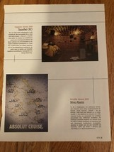 Absolut Cruise Greece Original Magazine Mini Ad - $3.99
