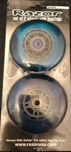 Razor Set of 2 Wheels With ABEC 5 Bearings 6102A Clear BLUE NEW SEALED - $8.00