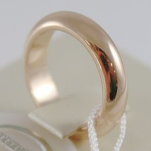 SOLID 18K YELLOW GOLD WEDDING BAND UNOAERRE RING 10 GRAMS MARRIAGE MADE IN ITALY image 2